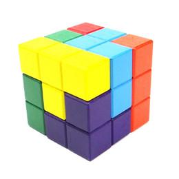 blocos de construção do castelo de brinquedo de plástico Desconto Colorido Cubic Building Blocks Madeira Natural Puzzles De Madeira Tijolos Conjunto para Crianças de Primeira Infância Educacional Brinquedos De Madeira