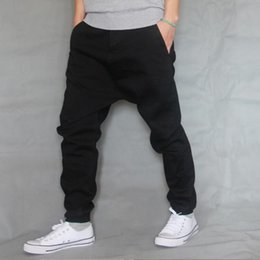 Wholesale Boys Baggy Jeans - TOP Brand Men Baggy Jeans Denim Loose Washing Jeans Men Hip Hop Boys Casual Skateboard Relaxed Fit Mens Harem Pants