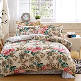 Wholesale comforter sets queen sale - bedding sets cotton set Reactive Printing hot sale comforter bed set Queen full size 4 pcs