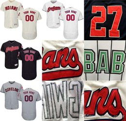 Wholesale Names Personal - CUSTOM Cleveland Indians Mens Women Youth Customized Majestic Stitched Baseball Jerseys Personal name Person number