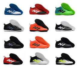 Wholesale Cream Ankle Boots - Turf high ankle Mens Soccer shoes 2017 ACE 17.3 Primemesh TF IC IN indoor soccer cleats ACE football boots Original purecontrol 17