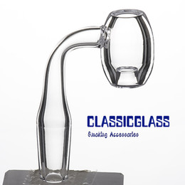 Tubo em forma de vidro on-line-Búzio de núcleo de quartzo Novo barril forma domeless 3mm espessura banger 10mm 14mm 18mm feminino masculino para bongo de vidro tubo de água