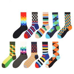 Coton peigné drôle chaussettes pour hommes Dot rayé rempli optique chaussettes décontractées robe chaussettes habillées pour cadeau de mariage 2PCS = 1PAIRS ? partir de fabricateur