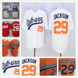 Wholesale Black Vintage Shorts - Auburn Tigers College Baseball #29 Bo Jackson Orange White Throwback 1986 vintage Memphis Chicks #28 red Stitched Jersey Free Shipping S-3XL