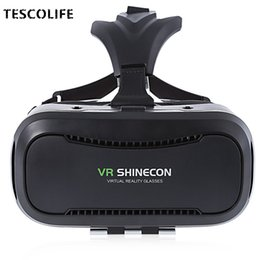 2019 versión de la tarjeta de video VR BOX Shinecon 2.0 Leather Version 3D Movie Video Card Immersive Virtual Reality VR Gafas caja con 4.7- 6.0'phone versión de la tarjeta de video baratos