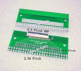 connecteurs plongeurs Promotion Adaptateur de plaque d'adaptateur DIP FPC DIP, 0,5 pas, 0,5 mm Connecteur DIP FFC de 40 broches FFC FPC 40P 2.0 2.54 Connecteur soudable