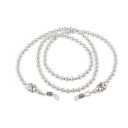 Wholesale Eyeglasses Holder Chain - Women Handmade Elegant Acrylic Imitation Pearl Eyewears Chains Glass Beaded Eyeglass Lanyards Cord Holder Glasses Ropes sale
