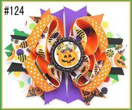 Arcs de dinde en Ligne-Livraison Gratuite 24 pcs Halloween Boutique Cheveux Arcs Thanksgiving Accessoires Cheveux Automne Cheveux Arcs Dinde Candorn Épingles À Cheveux Cadeau 115 -148