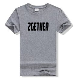 Wholesale Brown Womens Crew - Summer New 2GETHER Printing Couples Tee Short Sleeve Men Womens T-shirt 10 Colors