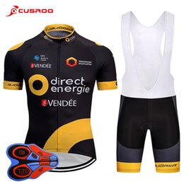 Wholesale Bike - 2018 Team Direct Short Sleeve Cycling Jersey 9D Gel Pad Bike Shorts Ropa Ciclismo Mens Quick Dry BICYCLING Maillot Culotte Clothing