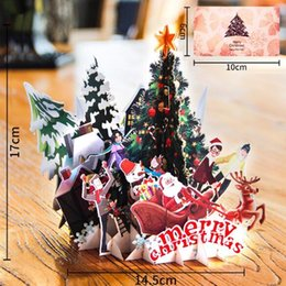 Beautiful 3d Pop Up Santas Sleigh Greeting Card Merry Christmas Wedding Postcard Gift Hot Jewelry & Watches