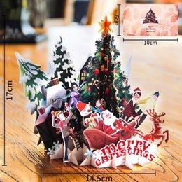 Beautiful 3d Pop Up Santas Sleigh Greeting Card Merry Christmas Wedding Postcard Gift Hot Wedding & Anniversary Bands
