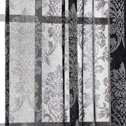 Wholesale French Pattern Fabric - Wholesale-1*2m European Cotton and linen Pattern Embroidered screens Curtains For Bedroom living Room Semi-shade Curtains