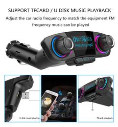 Argentina Bluetooth Car Kit Manos libres Inalámbrico Transmisor FM A2DP AUX Audio Car Reproductor de MP3 TF Tarjeta U Carpeta de disco Reproducción Suministro