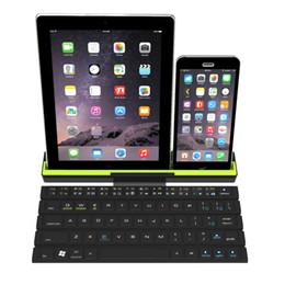 Wholesale wireless keyboard mini smartphone - Mini Folding BT Wireless Bluetooth Keyboard Portable Foldable Intelligent Magnetic Switch Keypad For Ipad Smartphone Tablet