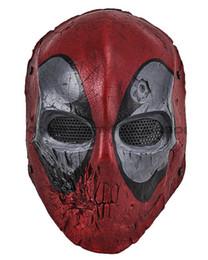 2019 máscara de malla de alambre Paintball Wire Mesh Dead Pool Army of Two Máscara facial completa Envío gratis máscara de malla de alambre baratos
