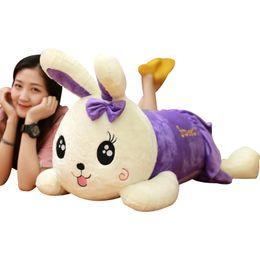 Coelho gigante brinquedo de pelúcia on-line-Doria Trader 35 '' / 90 centímetros Grande coelho de pelúcia linda Plush Macio gigante Coelho Toy agradável Lover Girl Xmas Present frete grátis DY60788