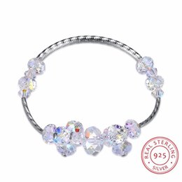 Wholesale 925 ring swarovski - LEKANI Crystals from Swarovski Elements Bracelet Women Fine Jewelry 925 Sterling Silver Bracelt Charms Bracelet Mom Hand Chain