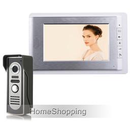 "Wholesale Color Video Door Phone System - Wholesale New Apartment 7"" LCD Color Screen Video Door Phone Intercom System + Waterproof Doorbell Camera In Stock FREE SHIPPING"