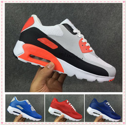 Wholesale Men Tenis Shoes - High Quality New 90 Lace Up Cushion Running Shoes 90 Mens Shoes Cheap Sports Shoes Sale Online Tenis Hombre Size 40-45