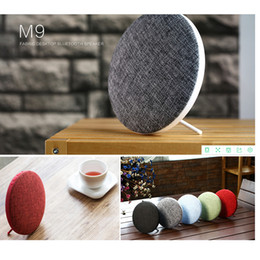 Wholesale Audio High End Speakers - Original REMAX M9 2018 high-end bluetooth mini speaker double stereo portable wireless soundbar speakers 6hours lated distinctive cloth