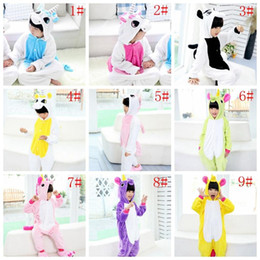 Wholesale Pajamas Long Sleeve Baby Sleepwear - Kids Unicorn Pajamas Flannel Animal Sleepwear Winter Children Cartoon Cosplay Oneises Baby Kids Cute Pajama Home Costum