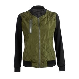 Wholesale Girls Size Outerwear - Simple Fashion Autumn Winter Women Jacket Zipped Tops Thicken Coat Ladies Girls Outerwear Plus Size S-3XL JL