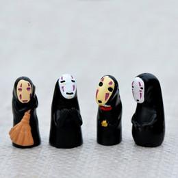 Giapponese in miniatura online-Stile giapponese nero senza volto uomo Mini Gnome Doll Ornament Accessorio in miniatura per terrarium Moss Micro Landscape Fairy Garden Decoration