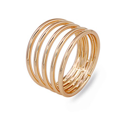 Wholesale Gold Mix Design Rings Jewelry - copper Rings Women 2018 new fashion Luxury Beautiful top Design Sterling Gold Color Wedding Rings Statement Jewelry Wholesale free shipping