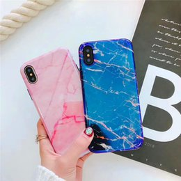 Wholesale Blu Cover Case - Gorgeous Blu-Ray Housing Back Cover Soft TPU Silicone IMD Phone Shell Laser Marble Stone Case for iPhone X 6 6S 7 8 Plus