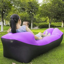 Wholesale air beds mattresses - Camping Mat Lazy Lounger Outdoor Camping Mat Waterproof Picnic Beach Inflatable Air Sofa Bed Beanbag Pad Lounger Chair