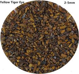 200 г 2-5 мм натурального желтого золота тигровый глаз камень Кристалл гравия бусины Аквариум кварцевые Аквариум сад C19 от Поставщики сад натуральный