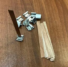2019 elfenbein teelichter 10 Stück 8mm x 90mm Kerze Holz Docht mit Sustainer Tab Kerze Herstellung Versorgung
