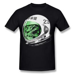 2019 raumhemden Neue Kommende Männer 100% Baumwolle Astronaut Space Cat T-Shirt Männer O-Neck Schwarz Kurzarm T-Shirt Plus Größe Einfachen Stil T-Shirt günstig raumhemden