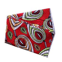 cera africana 100% tela de algodón para la camisa de vestir bufanda de la ropa Material de costura hecha a mano bricolaje hoja roja desde fabricantes