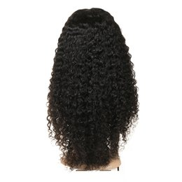 Wholesale brown crochet - Human Hair Wigs Brazilian Jerry Curly Crochet Hair 360 Full Lace Wig Virgin Human Hair Silk Base Full Lace Wig 150 Density