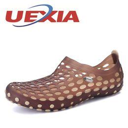 Wholesale Men Plastic Slipper - Plus Size 45 Casual Men Sandals Fashion Plastic Sandals Breathable Shoes Summer Beach Shoes Outdoor Water Slip On Slippers