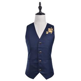 Wholesale Men Suit Design Embroidery - ief.G.S Men's Suits Vest 2017 Autumn New Chinese Style Chest Plum Pattern Embroidery Design Casual Fashion Vest