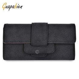 Wholesale wallet card insert - Guapabien Insert Belt Horizontal Long Wallet Card Holder for Women Black Provide OEM and Drop-shipping