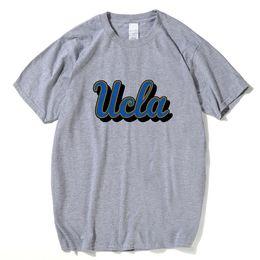 2019 одежда из калифорнии Университет Калифорнии Футболка UCLA Bruins Tees 2018 Лос-Анджелес с коротким рукавом Футболка с принтом Верхняя одежда дешево одежда из калифорнии
