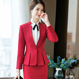 77d8dacca11 Black Pant Suits Formal Ladies Office OL Uniform Designs Women EleBusiness  Work Wear Jacket With Trousers Tailleur Femme