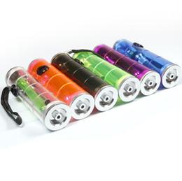 Canada YIWU acrylique cylindrique coloré transparent petite eau en plastique fumer des pipes narguilé bongs avec emballage de boîte d'affichage Offre