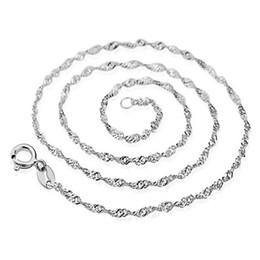 Nickelfreie silberne ketten online-Art- und WeiseHummer-Haken-justierbare einfache Halsketten-Ketten, Blei-Nickel-freie 925 Sterlingsilber-Halsketten-Kette