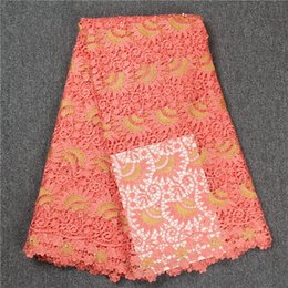 Wholesale Organza Lace Fabric Wholesale - Wise choice African lace fabric Guipure Lace Handcut organza lace french tulle fabric with stones beads 5 yards High Quality
