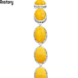 Bracelet en cire d'abeille en Ligne-Ovale Simulé Beeswax Couleur Résine Strand Bracelets Pour Femmes Perle De Fleur Vintage Antique Argent Plaqué Mode Bijoux TB293