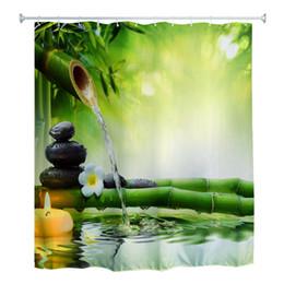 180 x 180 cm rideau de douche 3D en bambou d'eau zen ? partir de fabricateur
