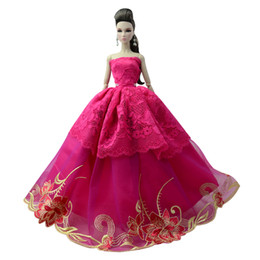 toy wedding dress Promo Codes - NK One Pcs 2018 Princess Wedding Dress Noble Party Gown For Doll Fashion Design Outfit Best Gift For Girl' Doll 085G