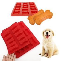 2019 аксессуары для собак Aihogard Dog Bone Shape Силиконовая выпечка Формы для выпечки Печенье Печенье Шоколадное мыло Инструмент Кухонные принадлежности дешево аксессуары для собак