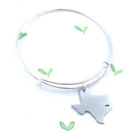 10 unids / lote EE. UU. Texas Texas Brazalete Texas Mapa Charm Pulsera I Heart Texas Pulsera Simple Estado Pulsera en Forma desde fabricantes