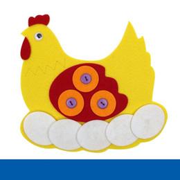 Jouets feutrés en Ligne-Intéressant Handmade DIY Zipper Button Animal Jouet Enfants Intelligence Jouets Tissu Non-tissé Feutre L'équipement D'enseignement Circulatoire 5bc W
